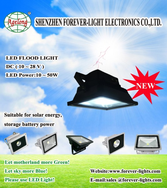 DC 10~28V LED flood light