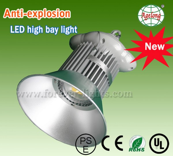 All series of LED high bay light (30-200W) passed explosion-proof certification