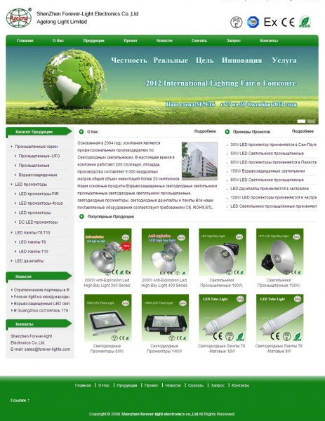Congratulations to our Russian website successful on-line