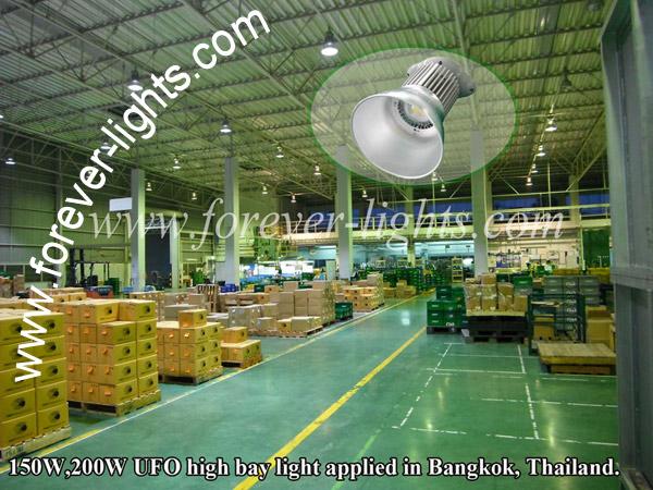 泰国曼谷-UFO150W及200W LED工矿灯用于五金厂照明