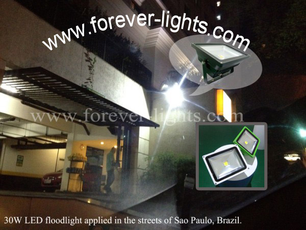 Brazil,30W LED flood lights applied in Brazil