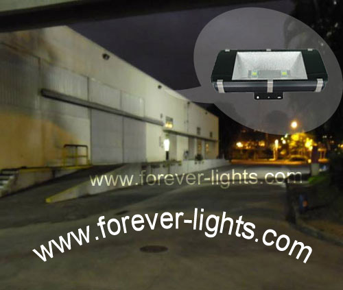 Brazil,100W LED flood lights used for chemical factory lighting