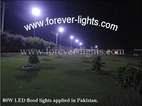 巴基斯坦-80W LED泛光灯用于高杆灯照明改造工程