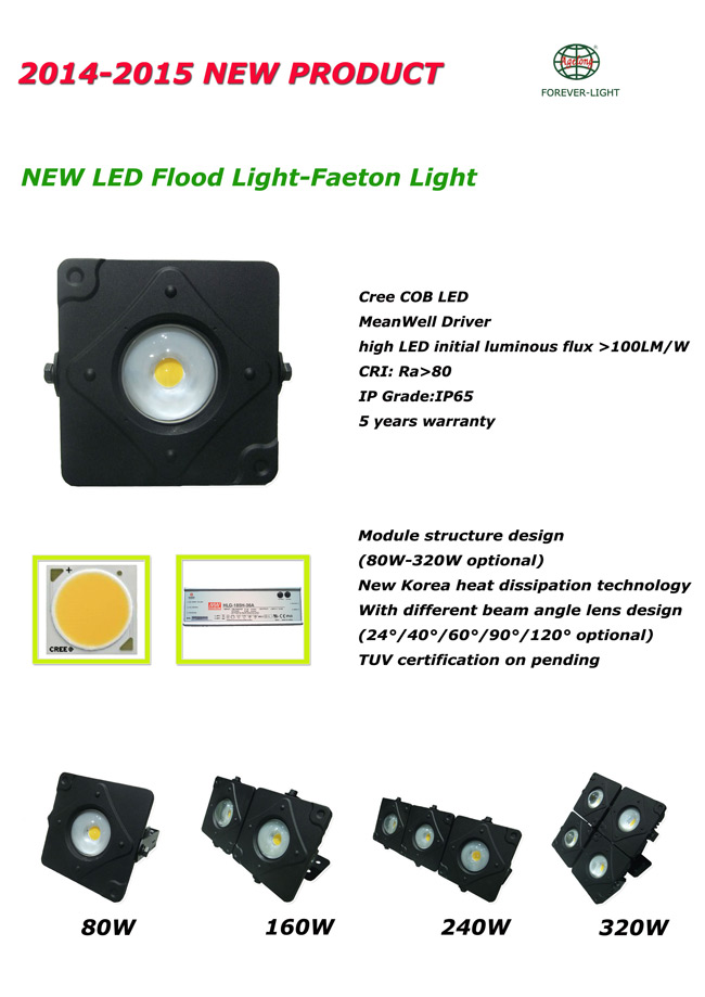 New products – LED flood light Faeton series