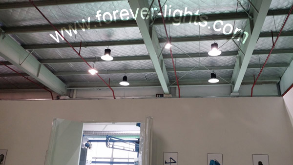 Shanghai,150W LED high bay light be used in Shanghai nederman factory and Warehouse