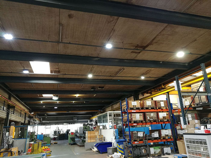 Switzerland,Our UFO LED high bay lights Applied In the Switzerland Factory workshop