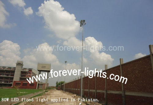 Pakistan,80W LED flood light applied in Pakistan