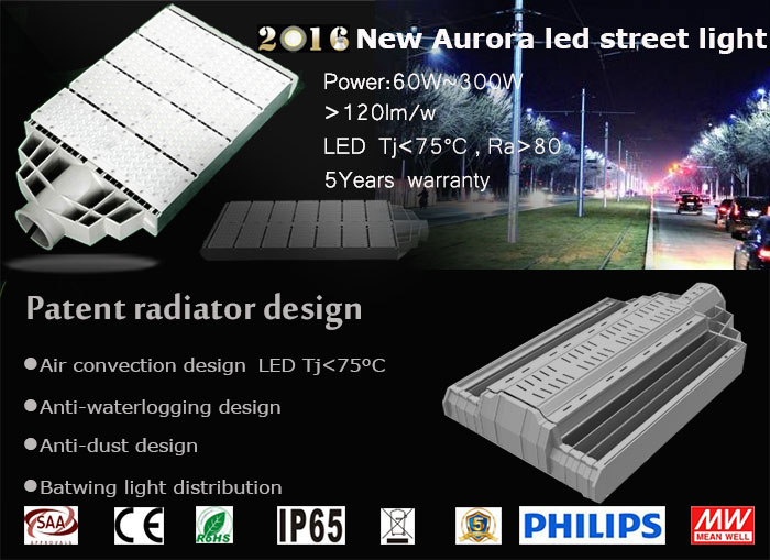 2016 Newest Launched Product – Aurora LED Street Light Serie officially released