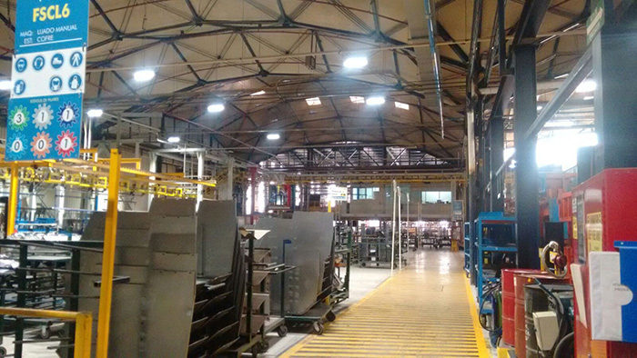 Mexico,100W LED high bay light (Linear) for Mexico large-scale warehouse in energy-saving project